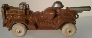 Manoil #51 Motorized Machine Gunner Laying in Vehicle Metal Toy Vintage 1930s