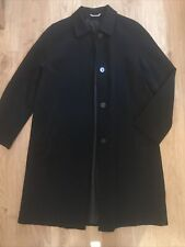 Marks And Spencer Black Lightweight Long Coat / Jacket Size UK 12