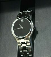 MOVADO Men's Museum Classic 0607199 Stainless Steel Watch - Black & Sliver