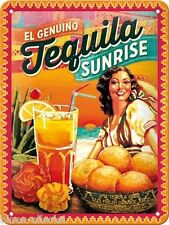 Blechschild - 15x20 cm - Tequila Sunrise -  Retro Vintage Cocktail
