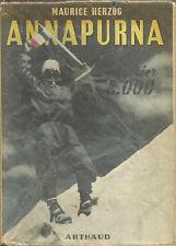 Montagna _ MAURICE HERZOG: ANNAPURNA / PREMIER 8000 _ARTHAUD 1951_PRIMA EDIZIONE