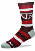For Bare Feet Texas A&M Rainbow Stripe Crew Socks