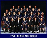 NHL 1965 - 66 New York Rangers Team Picture Color 8 X 10 Photo Picture