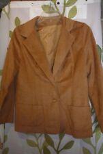 Vintage faux suede leather Gianni Regine Paris & Rome Blazer, Jacket Size S