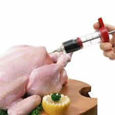 BBQ Tool Turkey Cooking Meat Injector Stainless Steel Needle Marinade Syringe