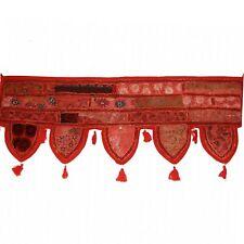Türbehang Toran Thorang Patchwork  Rot Indien Goa Wandbehang Bollywood Z