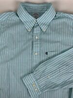 Brooks Brothers 346 Slim Fit Long Sleeve Button Front Striped Shirt Mens L