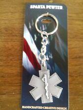 EMS EMT Paramedic Star Of Life Keychain