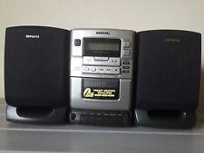 New listing Aiwa Lcx-110U Bookshelf Micro Compact Disc Stereo System Fm/Am/Casette/No Remote