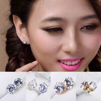 Fashion Women Lady Elegant Crystal Rhinestone Ear Stud Earrings Gift Jewelry