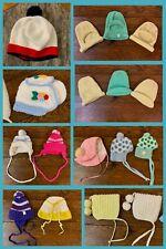 14 Vintage Sock Hats Beanies Toboggan Bonnet Acrylic Girls Toddler Youth 1970s