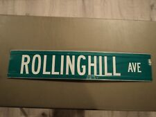 "30"" X 6"" Rolling Hill Ave Avenue STREET TRAFFIC HIGHWAY ROAD ROUTE SIGN Mass"