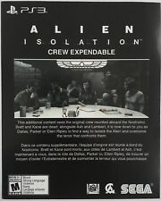 """Alien Isolation """"Crew Expendable"""" DLC Add-On for Playstation 3 PS3"""