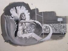 FLOAT VINTAGE PULP EROTICA PAINTING ILLUSTRATION 1960'S ART  PUBLISHED SIGNED