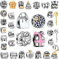 Birthday Party Style Beads Best Gifts Fit European 925 Silver Charms Bracelets