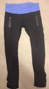 lululemon Leggings 8 Wunder Under Tight Hi-Rise black Navypockets zip