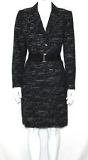Tahari NEW Long Sleeve Belted Textured Jacket & Skirt Suit PETITE 10