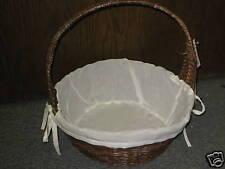 NEW Wicker Basket w/Lining Sewing Knitting Craft Baking