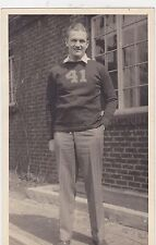 #MISC-0225 - 1918 8x5 photo of a football player