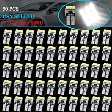 50 Pcs Super White T10 Wedge 9-Smd Interior Led Light bulbs W5W 194 168 