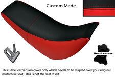 NERO e ROSSO personalizzati si adatta HYOSUNG RX 125 DUAL LEATHER SEAT COVER