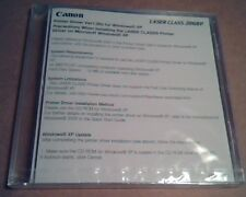 Canon Laser Class 2060P : Printer Driver Ver1.00x for Windows XP :Sealed in Case
