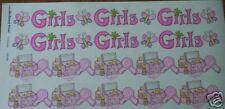 GIRL MAKE UP NAIL POLISH HAIR DRYER SCRAPBOOK BORDERS STICKER!! HARD TO FIND!