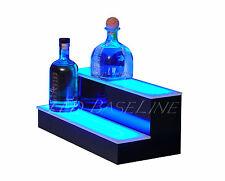 """16"""" LED BAR SHELF, Two Step, Liquor Bottle Shelves, Bottle Display Shelving rack"""