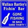Personalized Fishing Bar Beer Tavern Pub Gift Fish Wall Sign #11 Custom USA Made