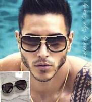 "CELEBRITY SQUARE Black Gold SUNGLASSES MENS  ""SEEN ON JACK, LOVE ISLAND""  🌴 A8"