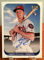 2018 Topps Archives Snapshots Andrew Stevenson RC Rookie Auto Nationals