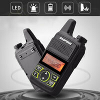 2 Stk BAOFENG MINI Long Range UHF 400-470Mhz Two Way Radio Walkie Talkie Y