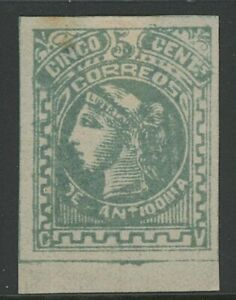 GN STAMPS- COLOMBIA-ANTIOQUIA, MINT, #38, HR, TINY THIN,  FANTASTIC CENTERING