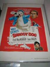 THE SHAGGY DOG DISNEY (1959) US AUTHENTIC ORIGINAL 27x41 MOVIE POSTER (468)