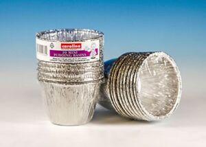 Caroline Foil Mini Pudding Basins 80mm dia x 52mm deep pack of 10