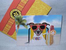 Burgoyne Handmade Pooch on the Beach - Birthday Greeting Card - NEW