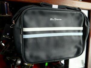 Ben Sherman Messenger Strip Flight Bag Navy Sky White Flight Bag