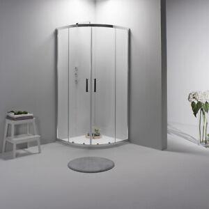 Cabina Box doccia 80x80 semicircolare scorrevole vetro trasparente 6mm
