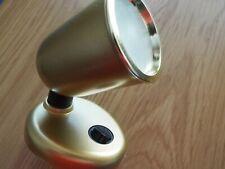 Caravan Camper Motorhome 12v Pale Gold switched swivel spotlight