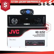 JVC KD-X252 Digital Media Receiver with USB/AUX-In/MP3/ Car Stereo(Rep KD-X241)