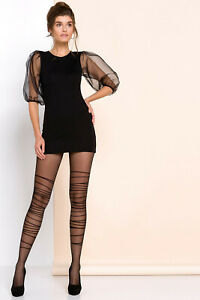 Harper Comfortable Patterned Sheer Everyday 20 denier Tights by Gabriella