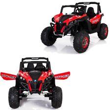 Grand buggy électrique enfant 2X12 V gros pneus avec télécommande rouge
