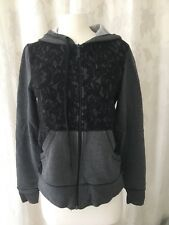 Micheal Kors Grey Lace Hoodie Size Small