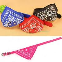 Adjustable Pet Dog Cat Puppy Neck Collar Harness with Scarf Bandana Collars MT