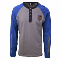Harley-Davidson Men's Blue Grey Two Tone 115 Anniversary L/S Henley T-Shirt S22