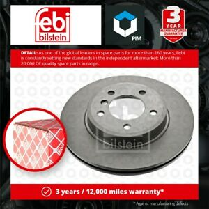 2x Brake Discs Pair Vented fits BMW 323 E46 2.5 Front 98 to 00 300mm Set Febi