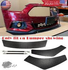 3 Pc Bumper Lip Splitters Spoiler Diffuser Winglet Blade For 15-17 Ford Mustang