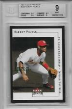 2001 Albert Pujols Fleer Premium RC- BGS 9 Mint w/9.5 subs... #239/1999