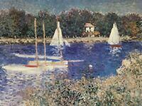 "CLAUDE MONET - ""BASSIN AT ARGENTEUIL"" - ART PRINT - LITHO ©1995 - 28"" X 22"""