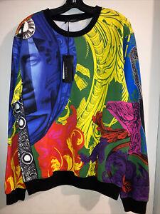 Retails $1395 Authentic NWT Versace Baroque Mens Sweatshirt Size XL Cotton